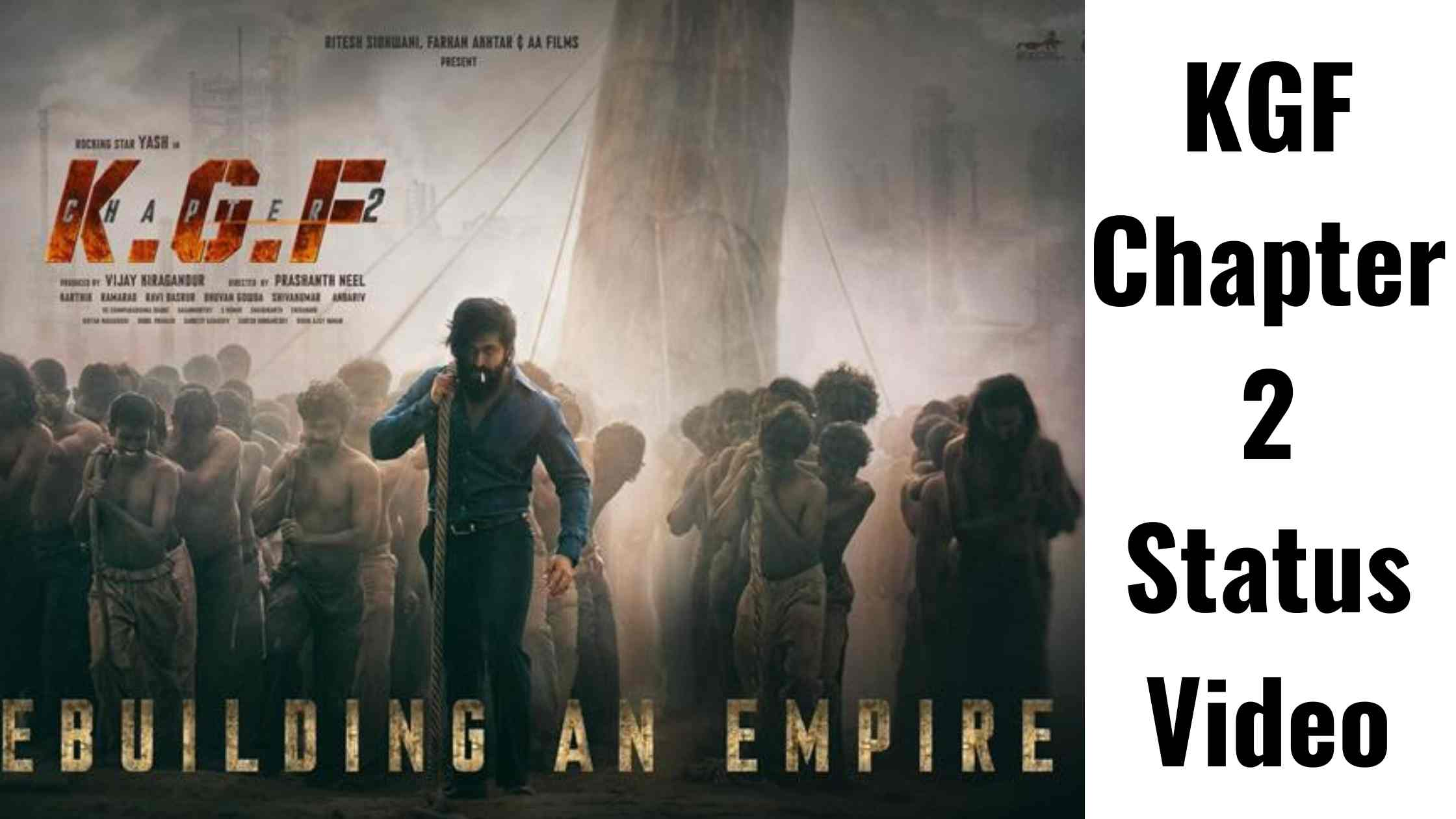 Kgf Chapter 2 status video download